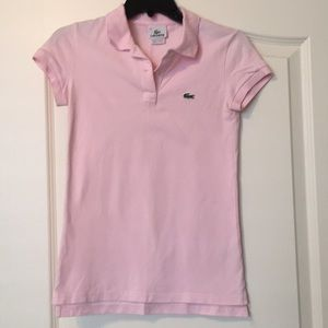 Lacoste, size 34 pink polo